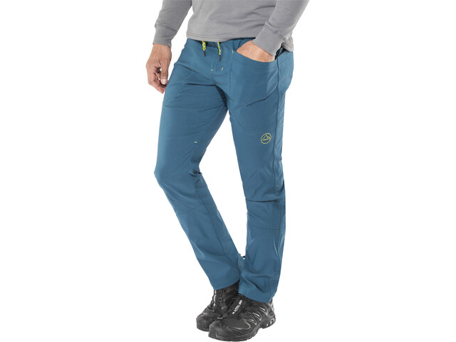 La Sportiva Talus Pants Men Ocean/Citronelle